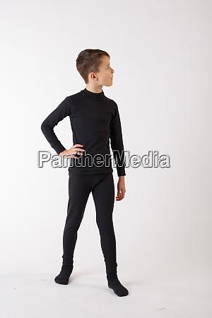 boy in thermal underwear on a