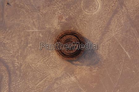 aerial view of artwork at afrikaburn
