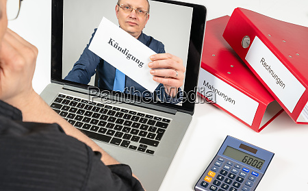indebted man gets his termination online