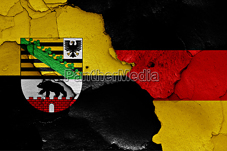 flags of saxony anhalt and germany