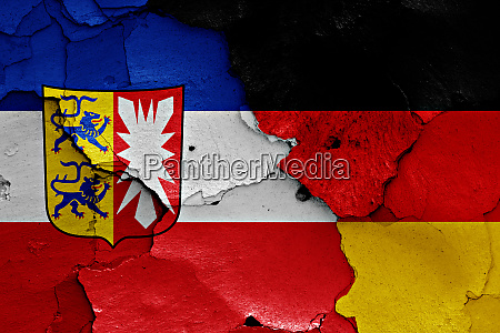 flags of schleswig holstein and germany