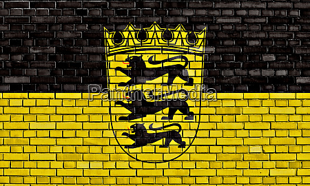flag of baden wurttemberg painted on