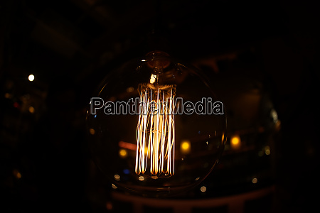 incandescent lamp of fashionable cafe