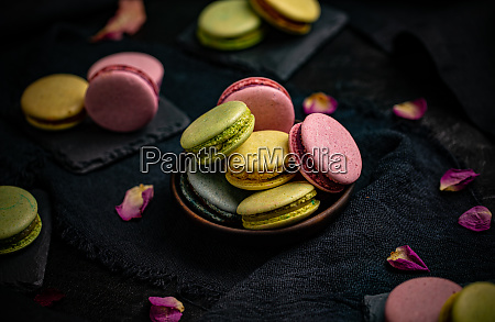 colorful french or italian macaron