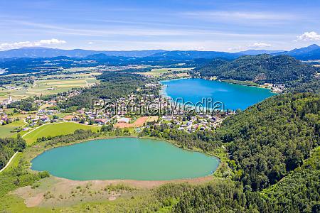 klopeiner see lake in carinthia austria