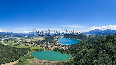 klopeiner see lake and kleinsee in