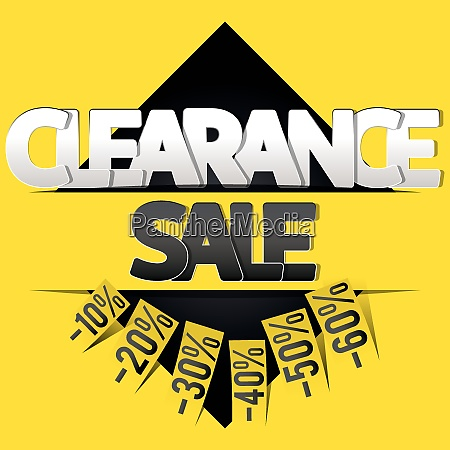 clearance sale banner flyer or poster