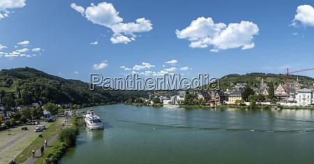 romantic mosel river panorama