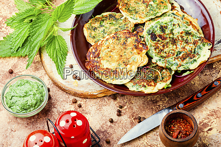 diet fritters with nettles