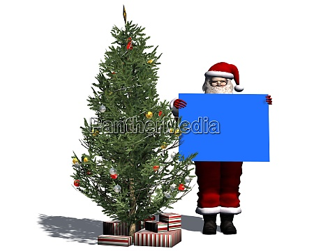 santa claus with blue shield