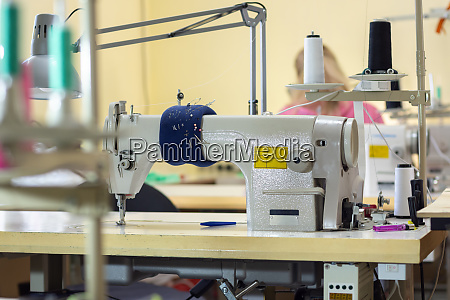 industrial sewing machine in the workshop
