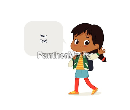vector illustration of the latino girl
