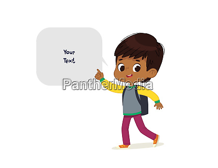 vector illustration of the latino boy