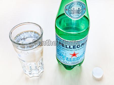 bottle of s pellegrino mineral water