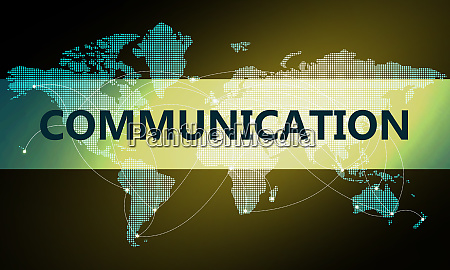 communication concept with global world map