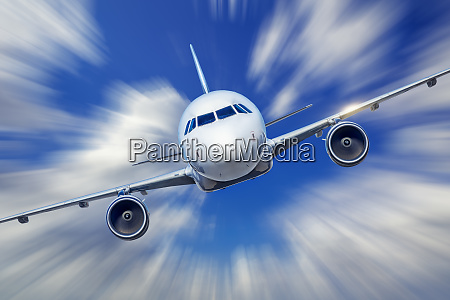 airliner with high speed into the