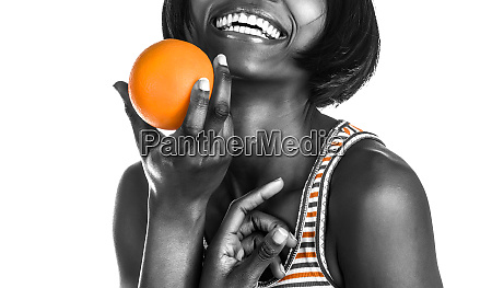 happy african woman