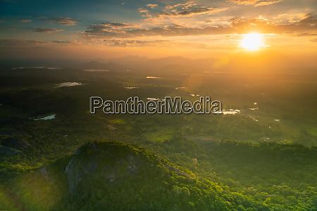 sri lanka landscape from above
