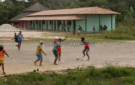 football in indigenous school
