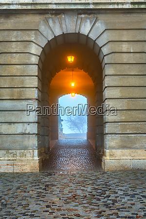 gate in buda castle budapest