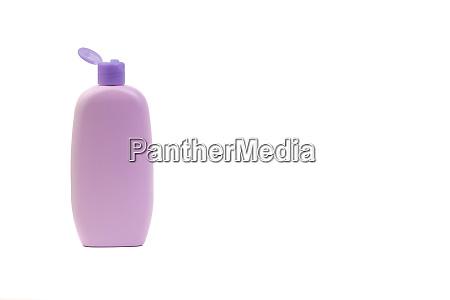 baby lotion or shampoo bottle isolated