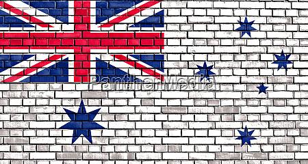 the australian white ensign flag painted
