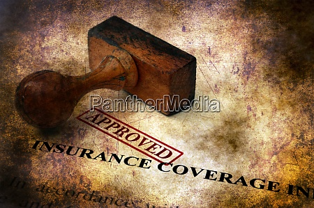 insurance coverage approved grunge concept