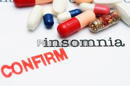 pills on insomnia text