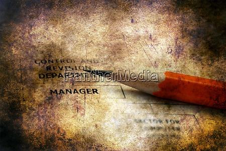 company organization chart grunge concept