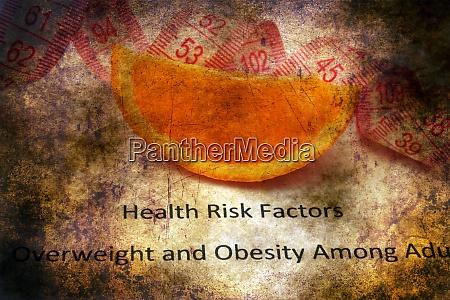 health risk factors grunge concept