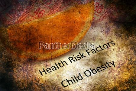 health risk child obesity grunge