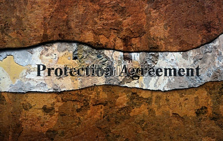 protection agreement text on wall