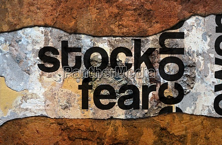 stock fear grunge concept
