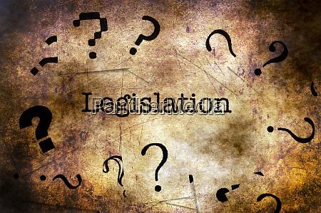 legislation text on grunge background