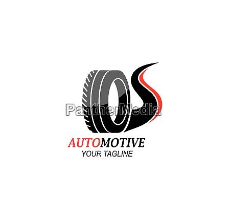 tire wheels of automotive icon logo