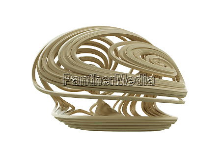 abstract geometry with flowing curved lines