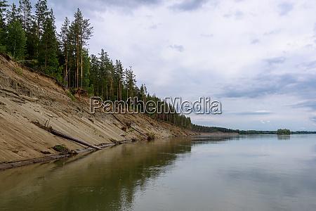 steep bank on the ob river