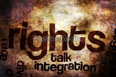 broken rights to speak grunge concept