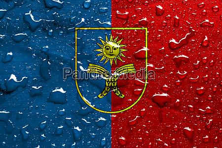 flag of khmelnytskyi oblast with rain