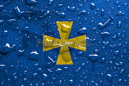 flag of poltava oblast with rain
