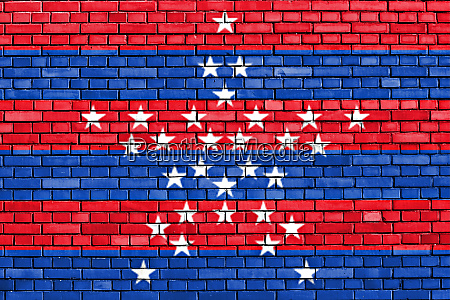 flag of magdalena painted on brick
