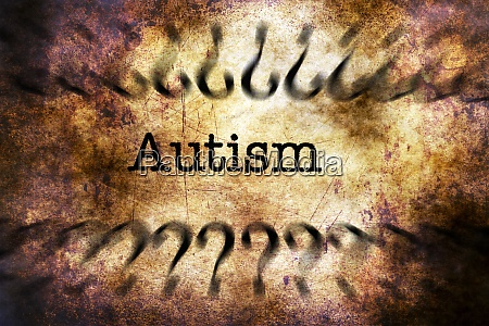 autism disorder grunge concept