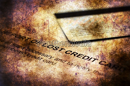 report of lost credit card grunge
