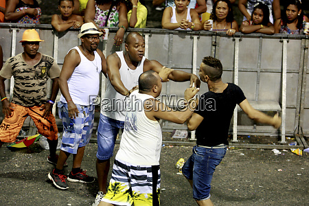 fight during the carnival