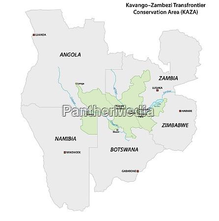 vector map of the kavango zambezi