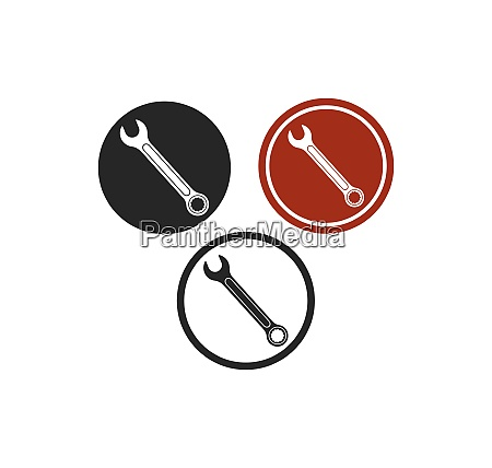 wrench icon vector of automotive service