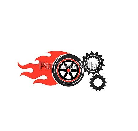 tire illustration vector template