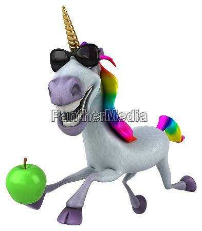 fun unicorn 3d illustration