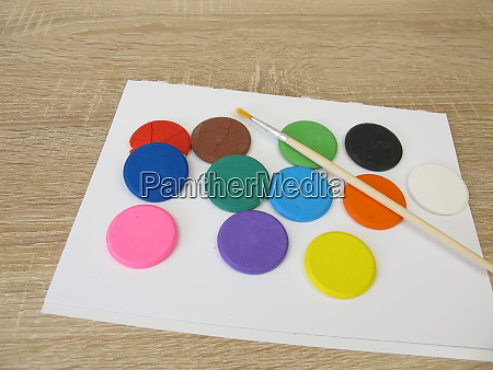 water soluble watercolor color tablets