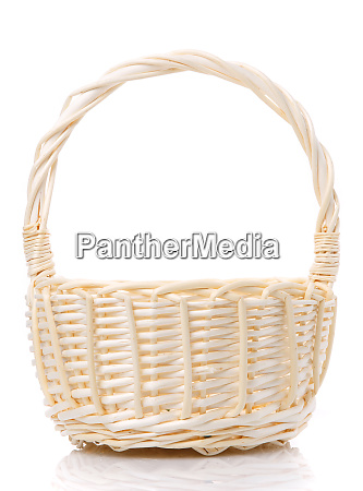 basket woven from natural vine isolated